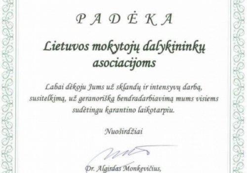PADĖKA